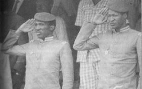 Thomas Sankara et Blaise Compaoré