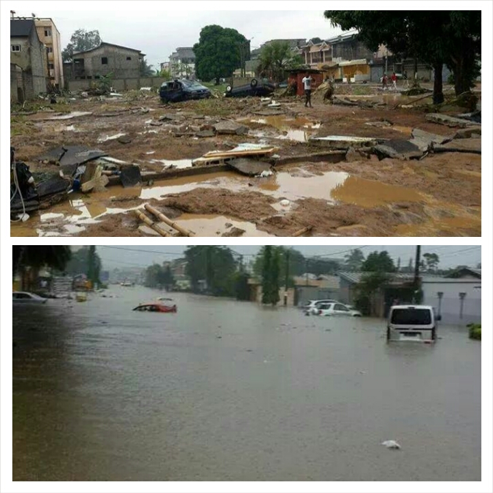 Routes et chaussées impratiquables après la pluie